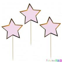 טופרים כוכבים ורוד זהב