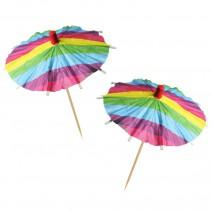 מטריות קוקטייל קשת