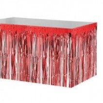 חצאית שולחן פרנזים אדום