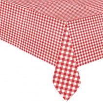 מפת שולחן אדום משבצות
