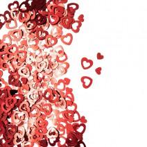 קונפטי לב חלול - אדום
