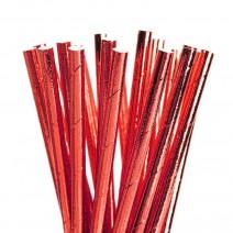 קשיות נייר אדום מטאלי