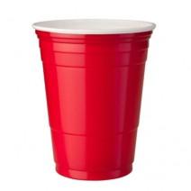 25 כוסות פלסטיק - אדום