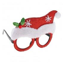 משקפיים לחג המולד - כובע סנטה