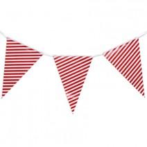 שרשרת דגלים פסים - אדום