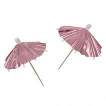 מטריות קוקטייל רוז גולד