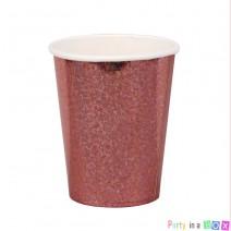 כוסות רוז גולד הולוגרפי