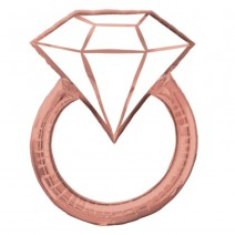 בלון מיילר טבעת יהלום רוז גולד