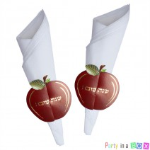חבקים למפיות תפוח אדום זהב