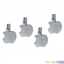 אטבי עץ תפוחים - כסף