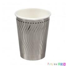 כוסות נייר להבות כסף מטאלי