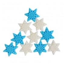 קישוטים מבצק סוכר פתיתי שלג