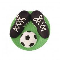 קישוט מבצק סוכר נעלי כדורגל