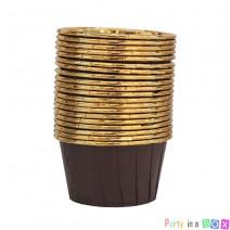 גביעי קאפקייקס חום זהב