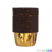 גביעי קאפקייקס זהב חום