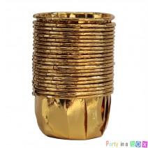 גביעי קאפקייקס זהב מטאלי