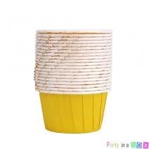 גביעי קאפקייקס צהוב