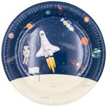 צלחות גדולות אסטרונאוט בחלל