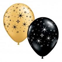 בלונים שחור זהב כוכבים
