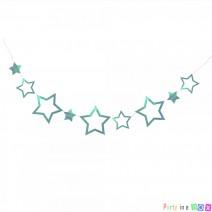 שרשרת כוכבים ססגונית - טורקיז