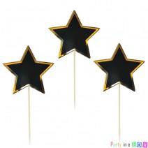 טופרים כוכבים שחור זהב