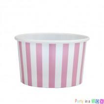 כוסות ממתקים פסים ורוד