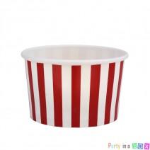 כוסות ממתקים פסים אדום