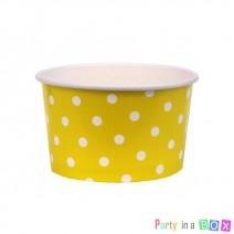כוסות ממתקים - צהוב נקודות
