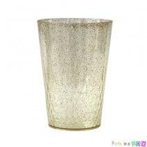 כוסות וינטאג' גליטר זהב