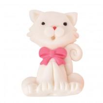 קישוט מבצק סוכר חתולה לבנה