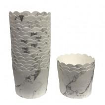 גביעי קאפקייקס לבן שיש