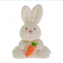 קישוט מבצק סוכר ארנבת לבנה