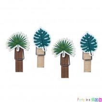 אטבי עץ עלים טרופיים