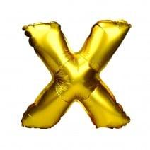 בלון מיילר זהוב לניפוח עצמי - X