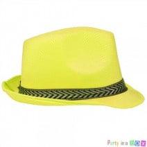 כובע ג'נטלמן צהוב זוהר