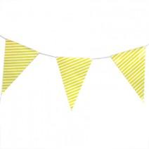 שרשרת דגלים פסים צהוב